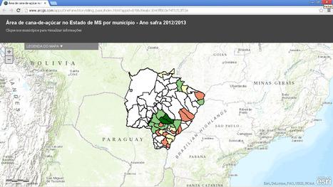 Área de cana-de-açúcar no Estado de MS por município - Ano safra 2012/13 | Geoflorestas | Scoop.it