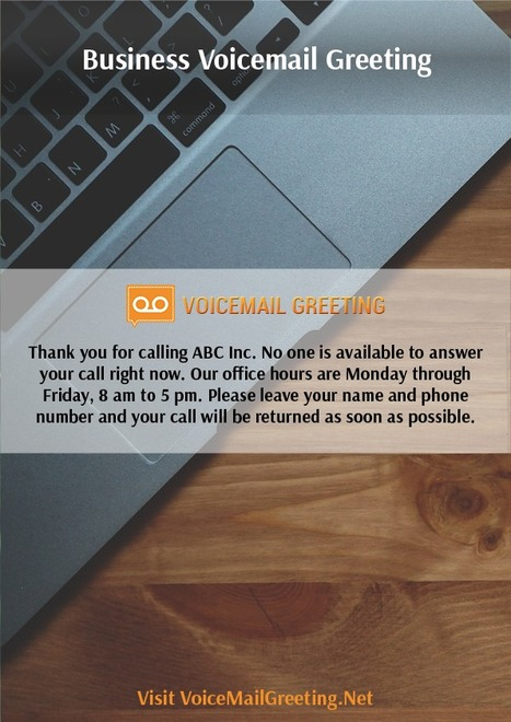 Business voicemail greetings example voicemai business voicemail greetings example m4hsunfo