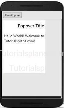Ionic Popover Example | controller | animation