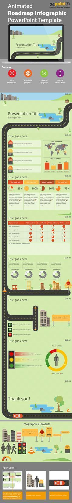 Animated Roadmap Infographic Powerpoint Template   PowerPoint Presentation Tools and Resources   Scoop.it