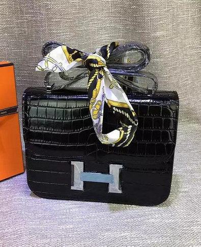 ec3221643bf4 Latest Style Hermes Croc Veins Leather Bag.Do you like it