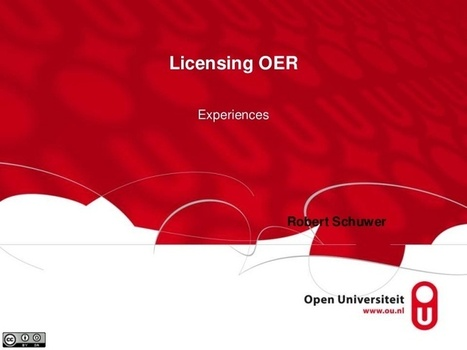 Experiences with licensing of OER | OER | Being practical about Open Ed | Scoop.it