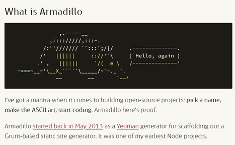 Armadillo | Snugug | ASCII Art | Scoop.it