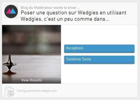Créer un sondage pour son site Internet ou les réseaux sociaux avec Wedgies   Pédagogie et web 2.0   Scoop.it