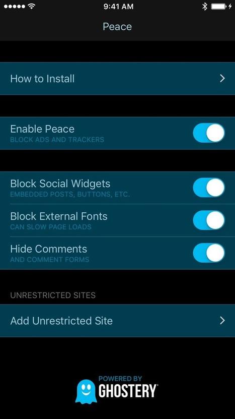 """El adblocker más vendido para iphone Peace es retirado por su creador - PinkMedia   """"Social Media""""   Scoop.it"""