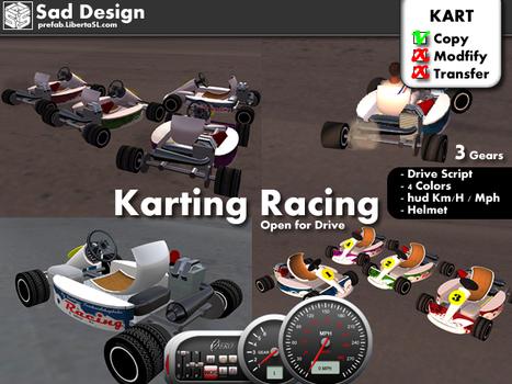 Karting Racing Pack by Sad Design | Teleport Hub | Second Life Freebies | Scoop.it