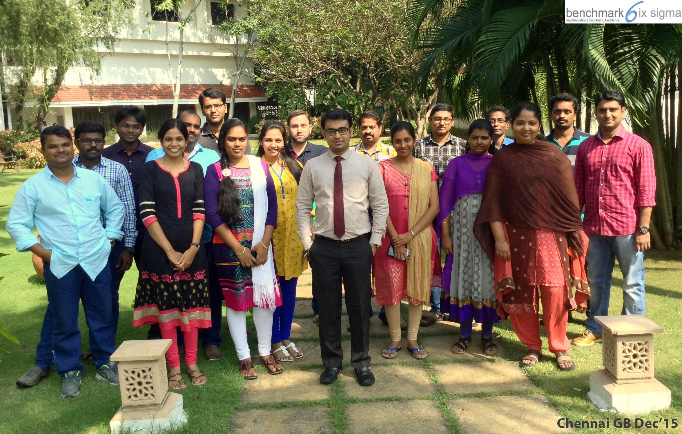 Benchmark Six Sigma Green Belt At Chennai Lea