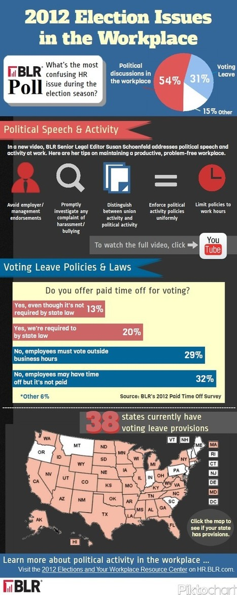 Infographic: 2012 election issues in the workplace   data visualization   Scoop.it