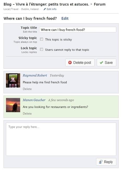 Forum for pages : application de discussions pour page Facebook | Facebook pour les entreprises | Scoop.it