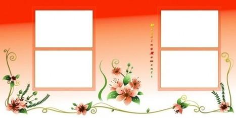 Wedding Couple Mix Album Page PSD Background Fr