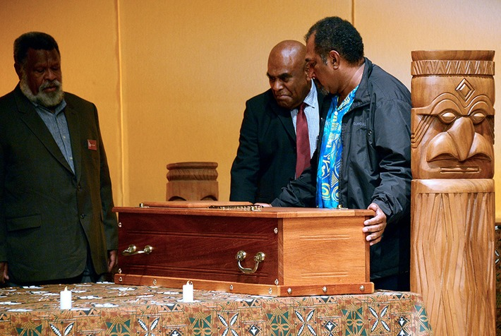 In a solemn ceremony in Paris, France returns skull of New Caledonian chief, 135 years on   Art Daily   Kiosque du monde : Océanie   Scoop.it