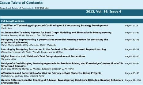Journal of Educational Technology & Society | Focus: Online EdTech | Scoop.it