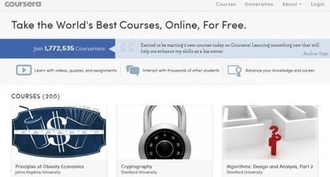 Avanza el reconocimiento académico de los cursos online en Coursera | Create, Innovate & Evaluate in Higher Education | Scoop.it