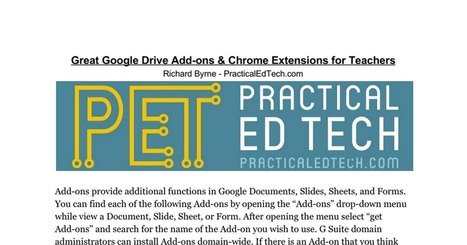 Add ons in arquitecturas digitales del aprendizaje para una 25 great google add ons for teachers richard byrne malvernweather Choice Image