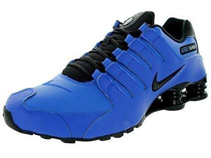 8f4015d80f Nike Men's Shox NZ Hyper Cobalt/Black/Mtllc Slvr Running Shoe 10 Men US