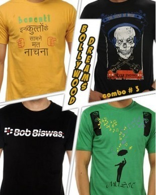 Combo T-Shirts, Bollywood T-shirts Combo, Gabbar Singh T-shirts online | Designer T-Shirts | Scoop.it