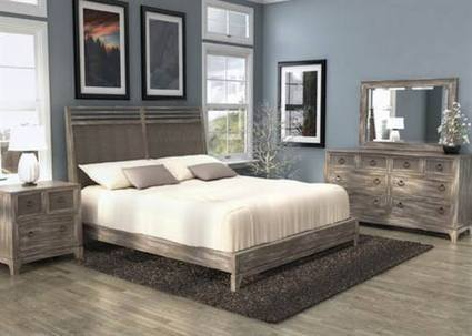 Max Furniture Driftwood Panel Bedroom Set