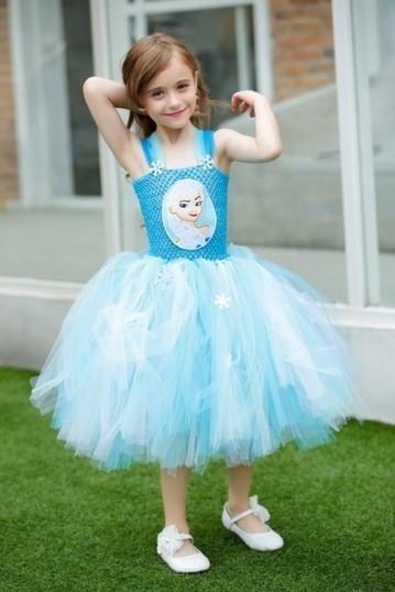 Stylish Designer Sky Blue Tutu Wedding Dress fo...