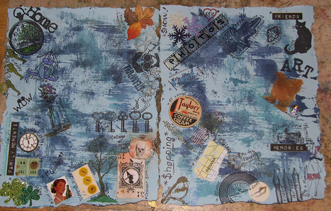 Art Journal #4 - Favorite Things Collage - In Progress 001 | Flickr ... | Journal For You! | Scoop.it