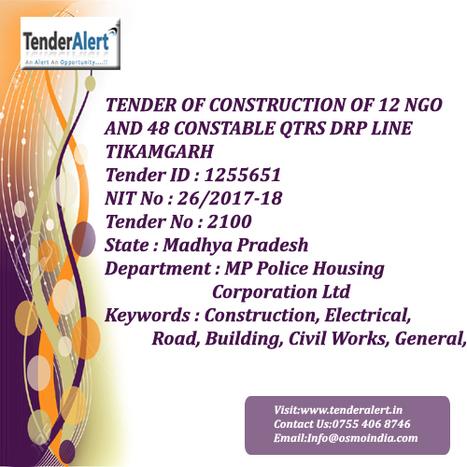 Madhya Pradesh Tenders| MP Police Housing Corpo