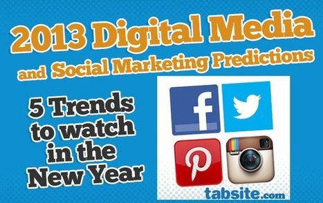 2013 Digital and Social Marketing Emerging Trends | Business 2 Community | SoLoMo Marketing | Scoop.it