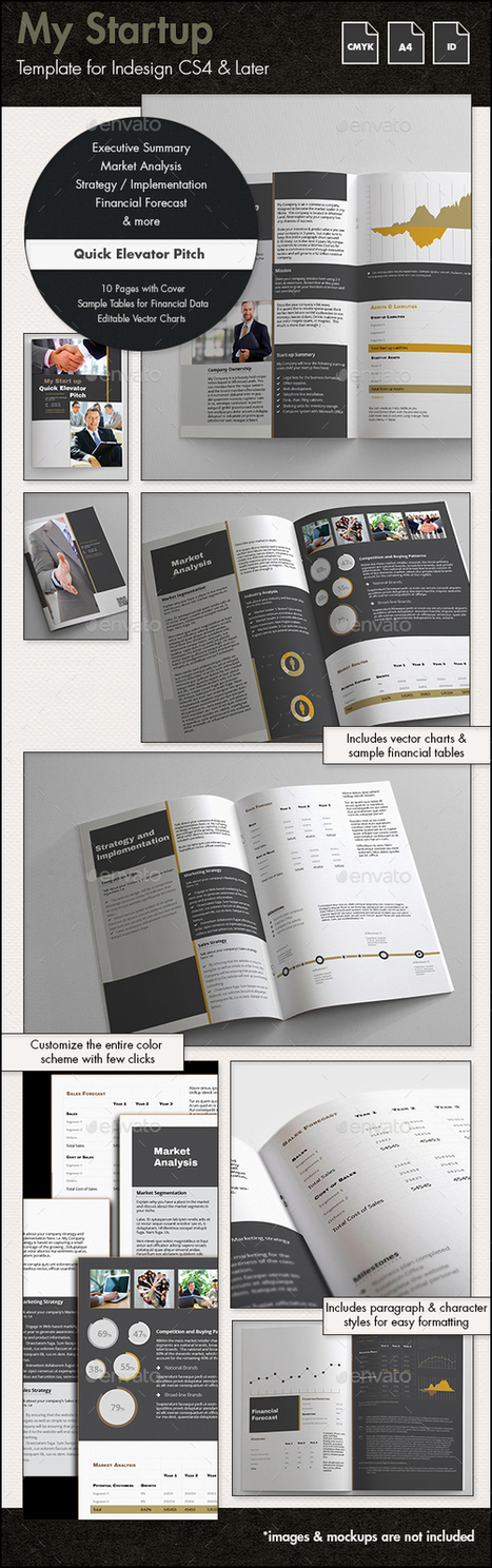 My Startup - Quick Elevator Pitch Template - A4 | About Design | Scoop.it