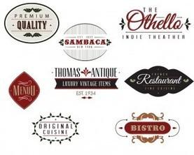 Vintage bistro label set vector   CGIspread   ...
