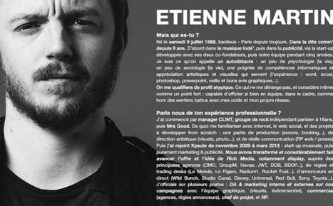 Etienne Martin: «Avec mon CV sur Instagram, je peux me faire connaître ailleurs qu'en France» | La Boîte à Idées d'A3CV | Scoop.it