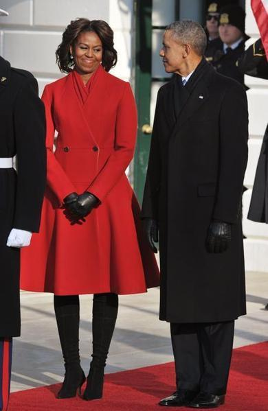 Michelle Obama in rosso per Hollande - JHP by Jimi Paradise™ | FASHION & LIFESTYLE! | Scoop.it