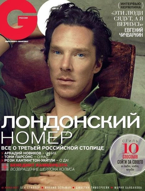 Benedict Cumberbatch for GQ Russia January 2014 | Benedict Cumberbatch News | Scoop.it