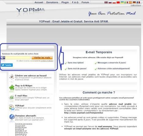 Lutter contre le Spam : créer une adresse mail jetable. | Mes ressources personnelles | Scoop.it