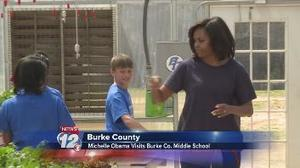 "VIDEO: ""First Lady visits Burke County to promote healthy living"" 
