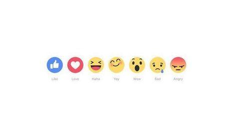 """Facebook teste six nouveaux emojis en plus du bouton """"j'aime""""   Toulouse networks   Scoop.it"""
