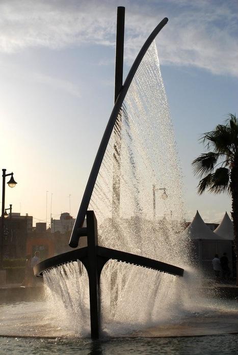 Spectacular Fountain Sprays Water to Look Like a Boat - My Modern Metropolis   Le It e Amo ✪   Scoop.it