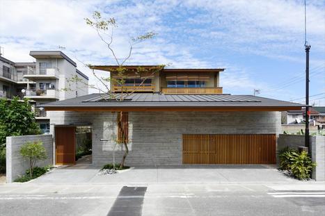 maison contemporaine japonaise entre tradition. Black Bedroom Furniture Sets. Home Design Ideas