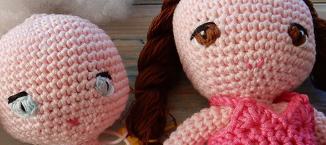 Crochet Amigurumi Doll CAL - Ep1 Head and Sewing Anime Eyes | Fiber Arts | Scoop.it