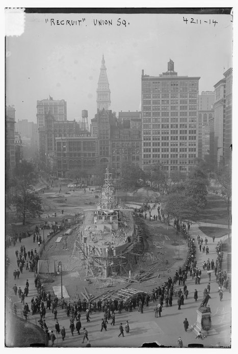 That time NYC built a battleship in the heart of Union Square   Modern Ruins   Scoop.it