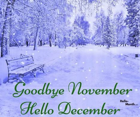 Hello December Goodbye November December 2018