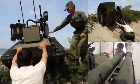 Journalist is nearly crushed by one-ton Russian military ROBOT | How will you prepare for the military draft if U.S. invades Syria right away? | Scoop.it