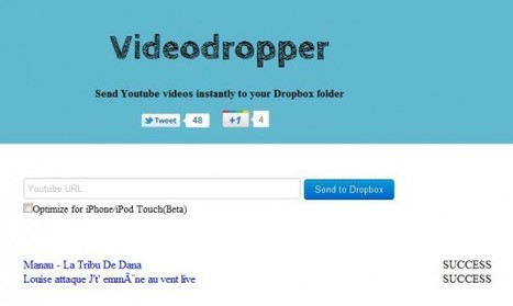 Télécharger les vidéos YouTube dans sa DropBox, Videodropper | Ballajack | Time to Learn | Scoop.it