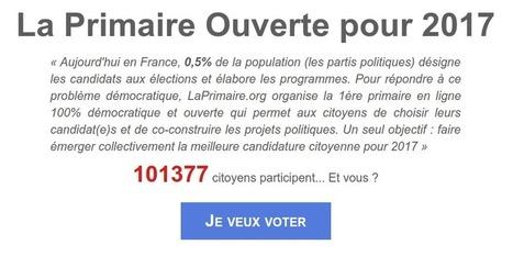 Participez à LaPrimaire.org - la 1ère primaire citoyenne pour un VRAI choix en 2017 ! | Des nouvelles de la 3ème révolution industrielle | Scoop.it