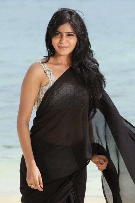 Indian Actress Samantha in Black Saree and Backless Deep neck Designer Blouse, Actress, Indian Fashion, Tollywood | Indian Fashion Updates | Scoop.it
