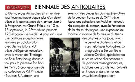 Rendez-vous: Biennale des antiquaires   La Biennale - Paris   Scoop.it