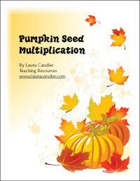 Pumpkin Seed Multiplication   Seasonal Freebies for Teachers   Scoop.it
