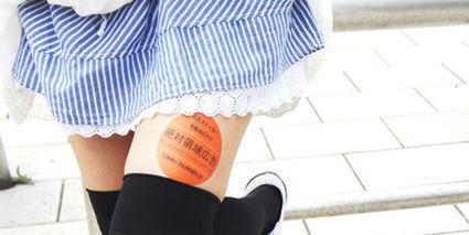 Japon : les cuisses des jeunes femmes, nouveaux supports publicitaires   Tout est relatant   Scoop.it