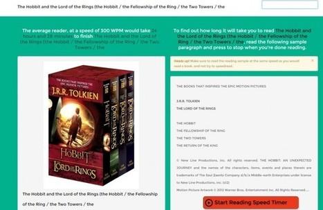 Una web nos dice lo que se tarda en leer el libro que indiquemos | e-learning y moodle | Scoop.it