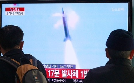 """North Korea test-fires ballistic missiles as Barack Obama holds Japan-South Korea summit  - Telegraph 