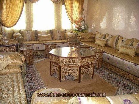 Salon marocain traditionnel design moderne | Fa...