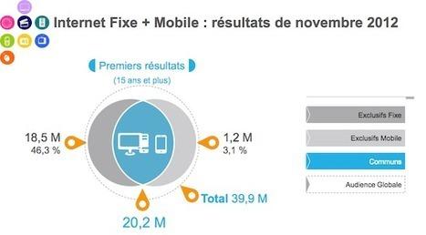 Chiffres Médiamétrie : L'audience de l'internet sur l'année 2012 - FrenchWeb.fr | socialmilk | Scoop.it