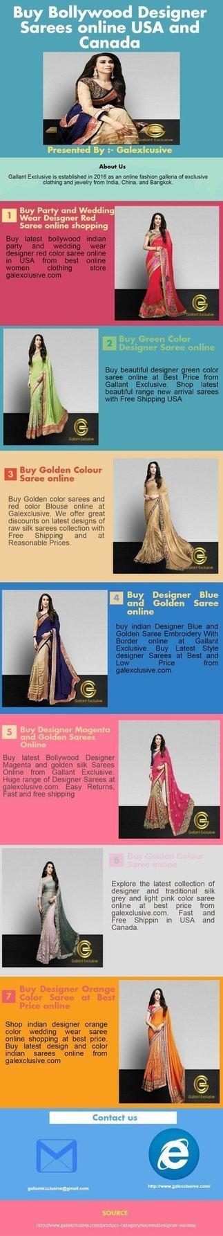 Designer Sarees Online Canada In Clothing Scoop It